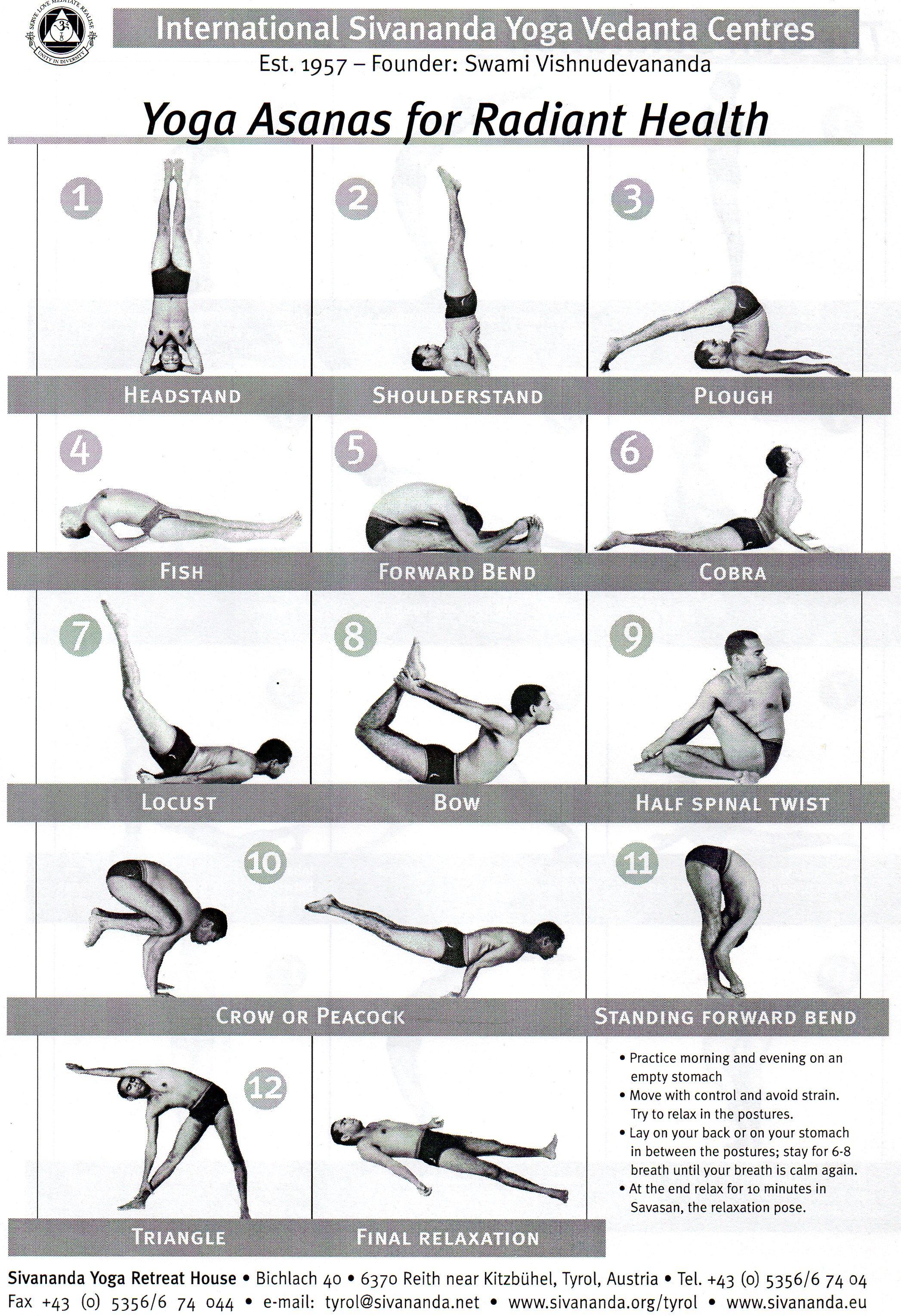 12 Basic Postures Love Yoga Healing